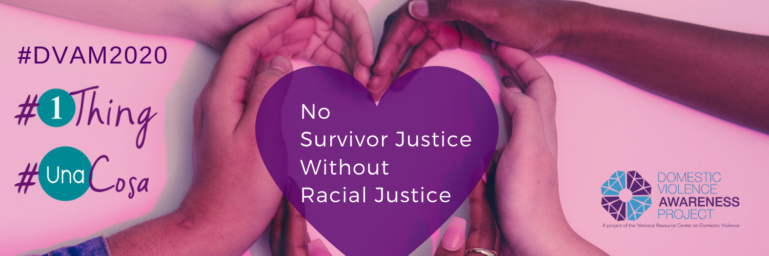 Two hands forming a heart, casting a shadow on wall. #1Thing, #UnaCosa, No survivor justice without racial justice.