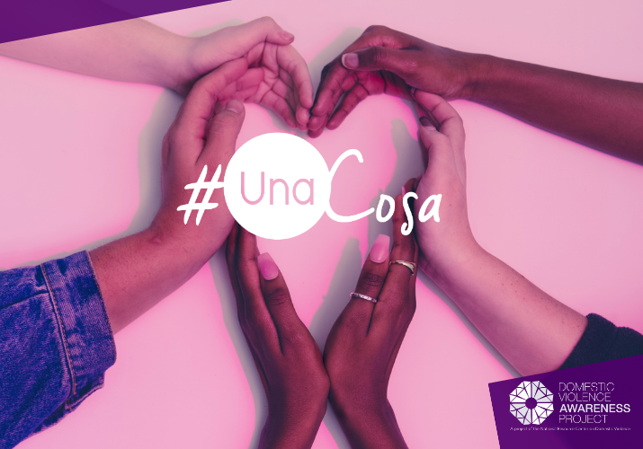 Several pair of hands forming a heart. #UnaCosa