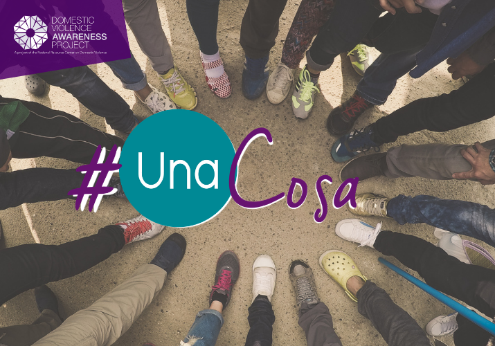 #UnaCosa Birds eye view of a circle of people's feet.
