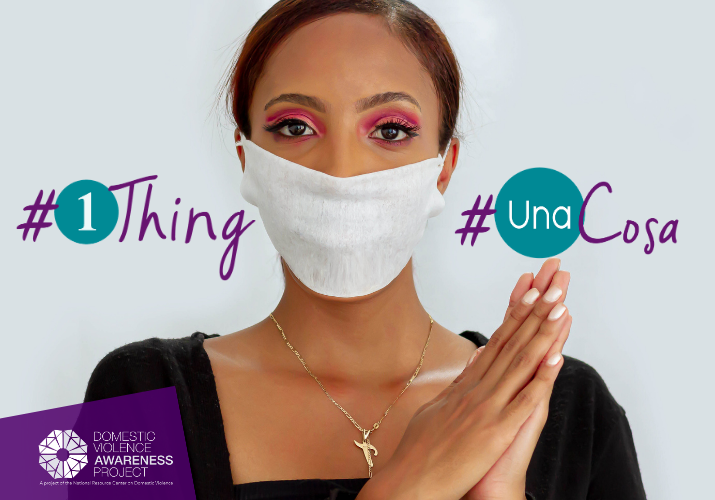 Woman wear a face mask. #1Thing #UnaCosa