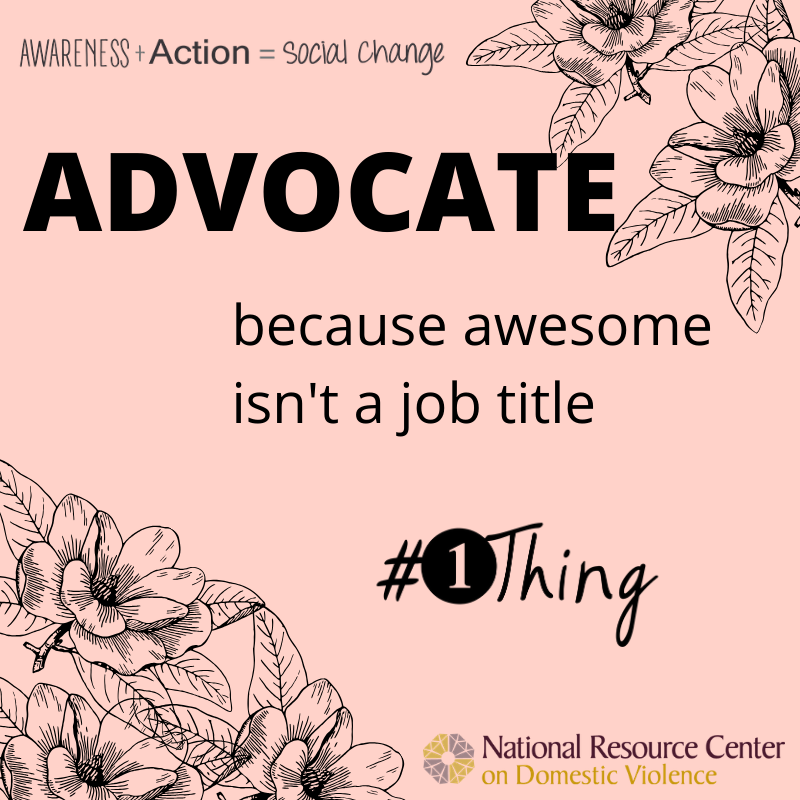 Advocate, because awesome isn't a job title.