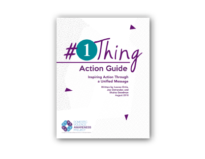#1Thing Action Guide Cover image consisting of title & #1Thing logo