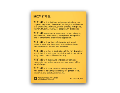 We stand Document, yellow background with black text.