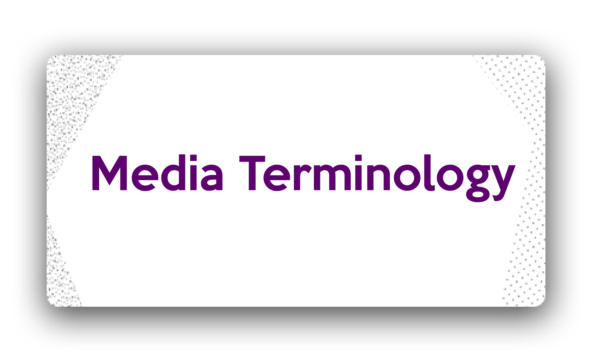 Title-Media Terminology