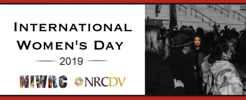 Image reading International Women's Day Image 2019, featuring NRCDV & NIWRCs logos