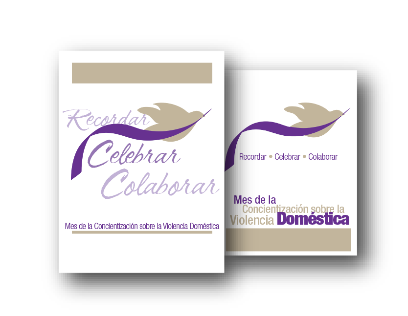 Mourn Celebrate Connect- dove with a ribbon fliers Spanish