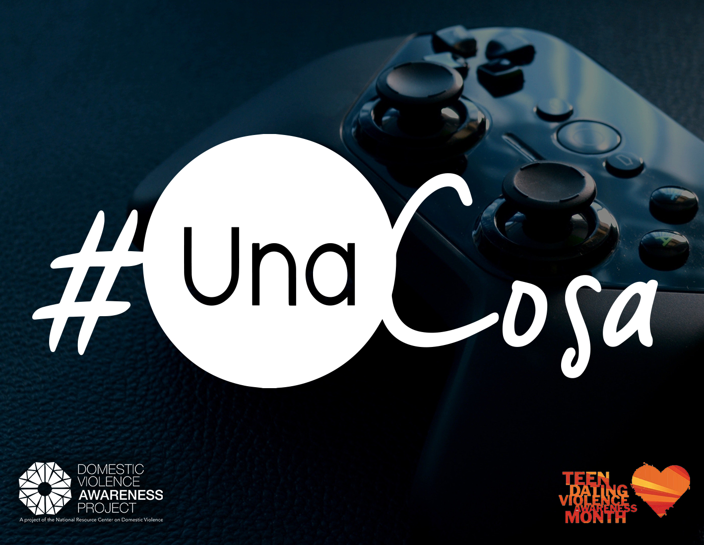 #UnaCosa logo imposed over image of gaming controller