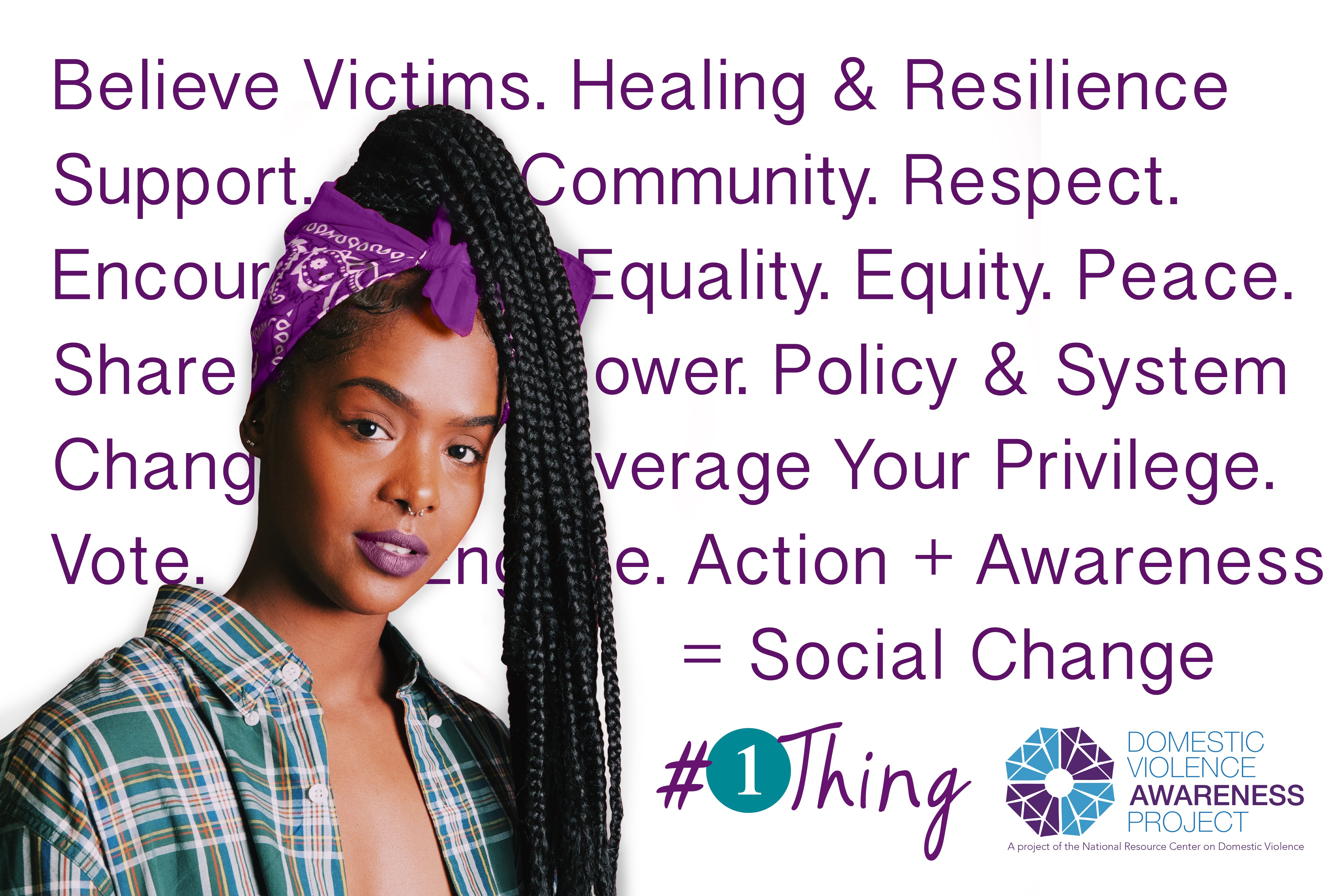 1thing image black woman support survivor text background