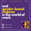 Image reading end gender-based violence in the world of work
